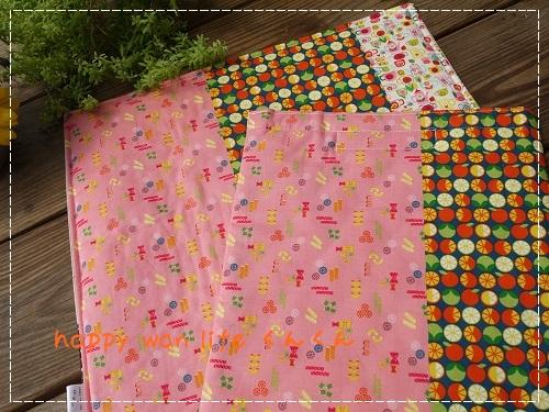 画像1: 保冷保温マット&カフェマット ピンク×グリーン